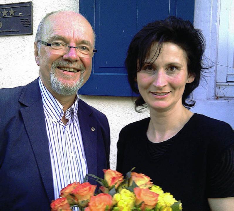 Tonio Paßlick und seine Vorgängerin  Susanne Schneider     Foto: Privat