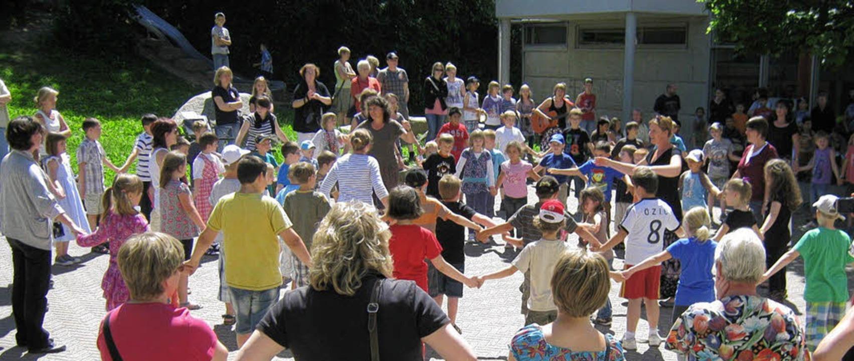 Viel los war beim Schulfest des Förderzentrums.     Foto: Lehmann