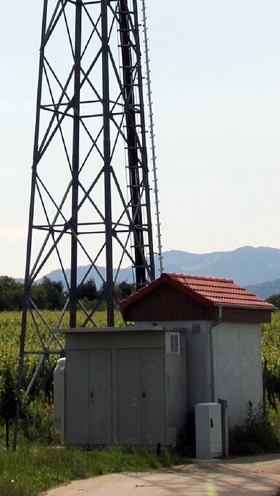 Kritik gab es im technischen Ausschuss...ners beim Mobilfunkturm am Schilzberg.    Foto: Sabine Model