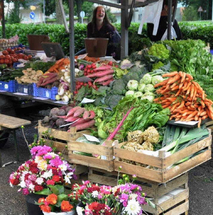 Gemüse gehört zum Angebot auf dem Söldener Markt.  | Foto: Julius Wilhelm Steckmeister