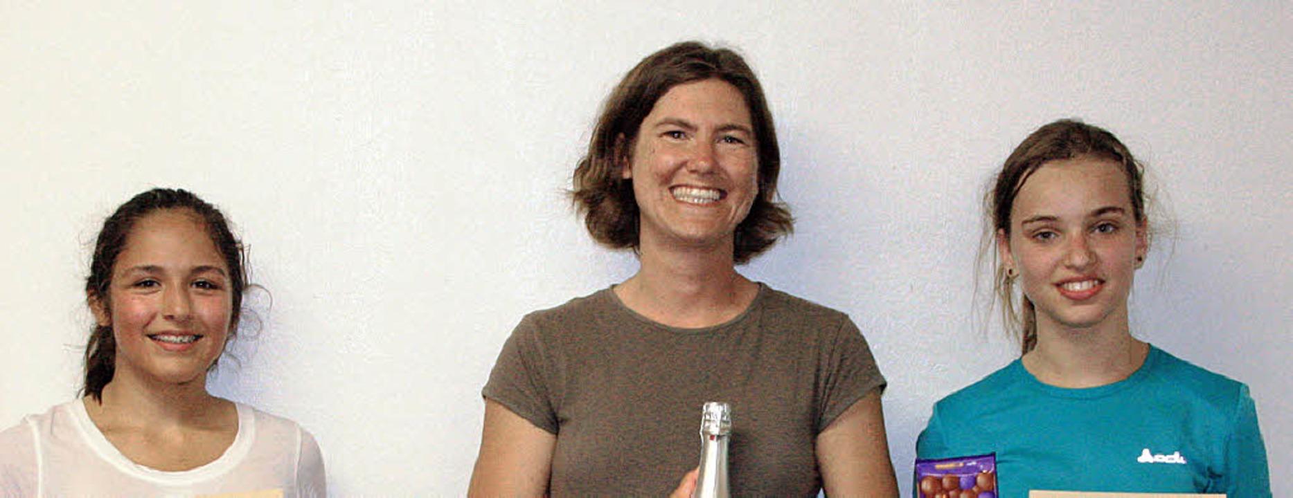 Die Besten im Frauen-Einzel (von links...ppa, Kirstin Schätzel, Verena Niemann     Foto: Maike Haupt