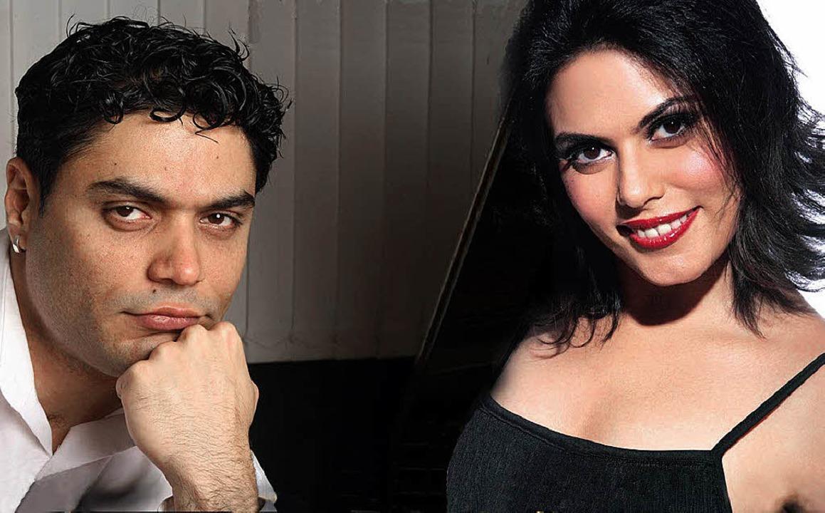 Der Lahrer Konzertpianist Pervez Mody ...ame Sache mit seiner Schwester Delna.   | Foto: Montage: PR