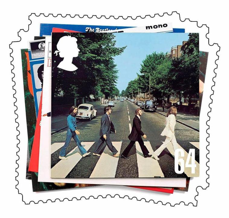 Das Originalmotiv der Platte. Das Bild...schen Post, der Royal Mail, geschafft.  | Foto: dpa, usage Germany only, Verwendung nur in Deutschland