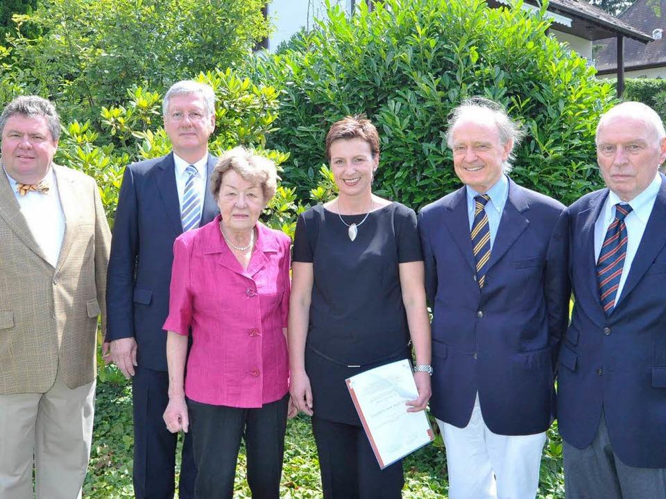 BZ-Verleger Christian Hodeige, Unireko... Blum und Eduard Farthmann (von links)  | Foto: Michael Bamberger