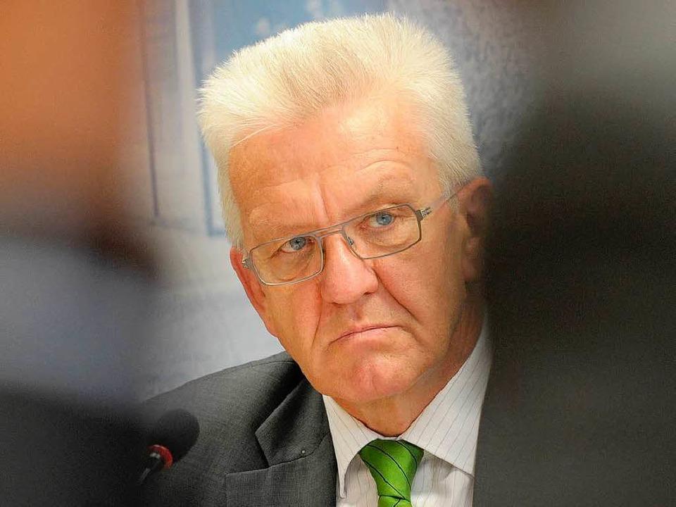 Baden-Württembergs Ministerpräsident Winfried Kretschmann.  | Foto: dpa