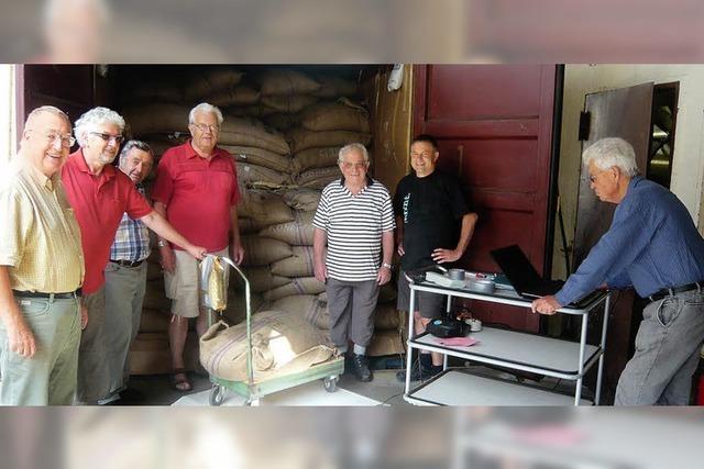 35,3 Tonnen frischer Robusta-Rohkaffee