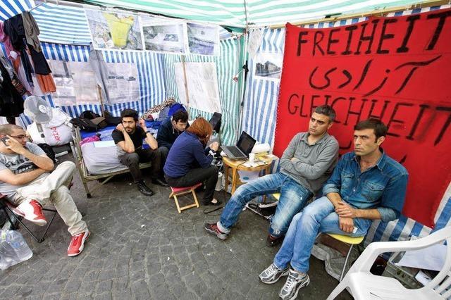 Seit Monaten protestieren Asylbewerber in Würzburg