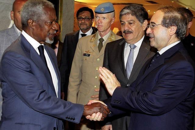 Annan einigt sich offenbar mit Assad