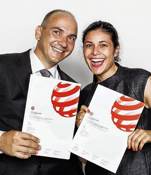 Ralf Kern und   Joa Herrenknecht bei der Preisverleihung   | Foto: Privat