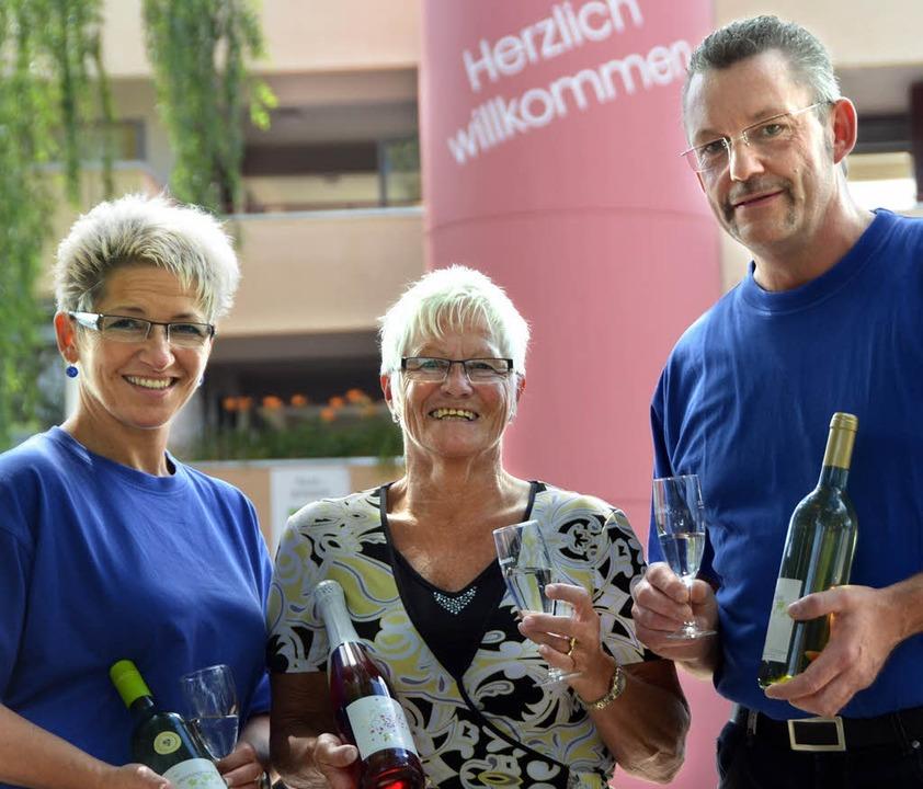Werben für das Winzerfest im Bürkle-Bl...lling, Monika Hoch und Peter Schilling  | Foto: Sylvia-Karina Jahn