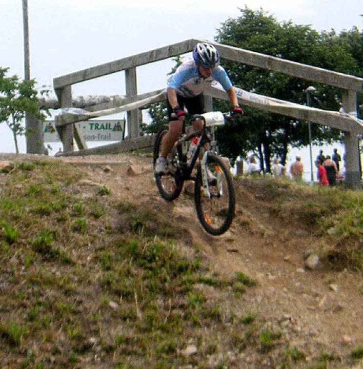 Raphael Stöhr auf der Strecke beim Bike-Pool-Cup     Foto: Privat