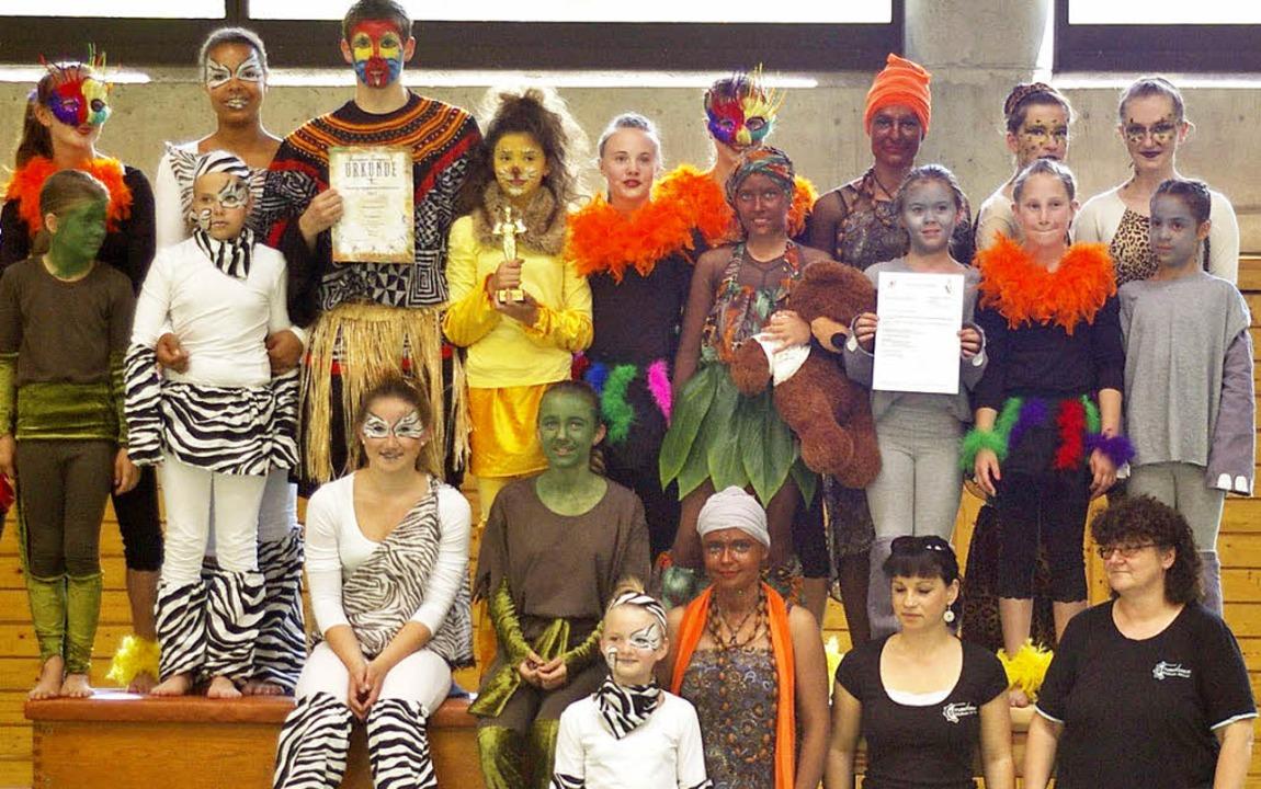 Mit ihrem Auftritt erreichte die Showt... Showturnwettbewerb  in Gundelfingen.     Foto: Privat
