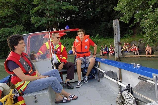 Erstes Rheinschwimmen läuft super