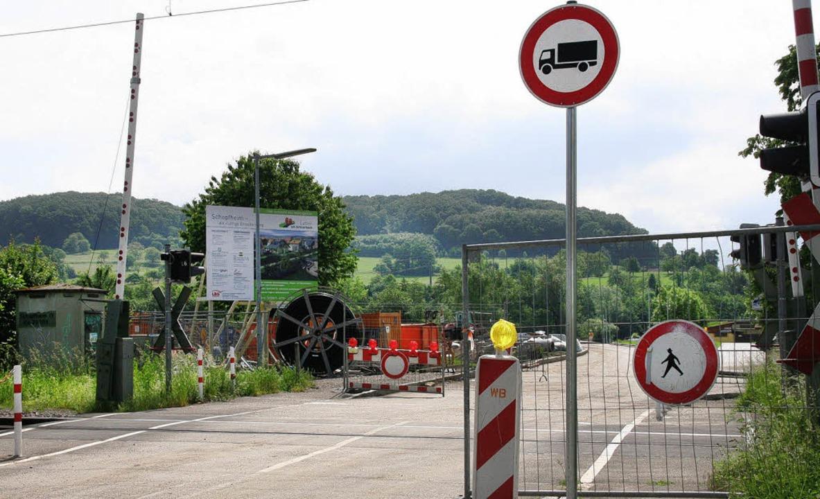 Achtung Baustelle: Der Hinweis auf Str...ied das Landgericht Waldshut-Tiengen.     Foto: archivfoto: Marlies Jung-Knoblich