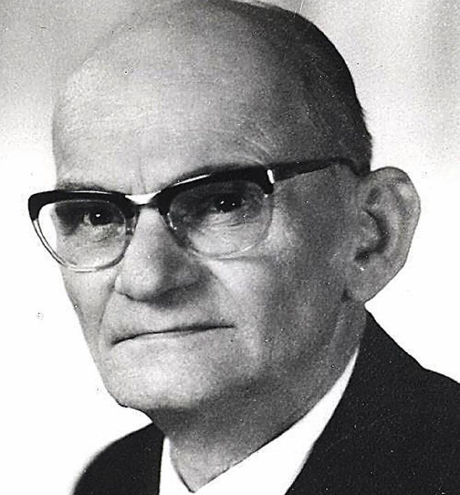 Karl Gaulrapp, Bürgermeister in Neuenburg (1957-1965)  | Foto: Stadtarchiv Neuenburg