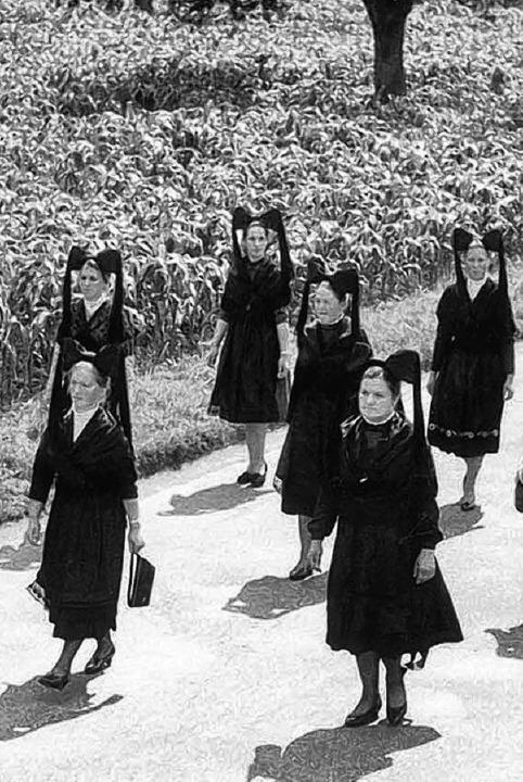 Der Festumzug vor 50 Jahren war Vorbil...n Umzug am kommenden Sonntag in Sexau.    Foto: Gemeinde