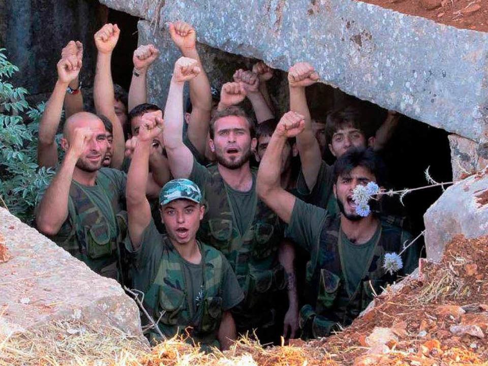 Kämpfer der Freien Syrischen Armee (SFA) beim Training    | Foto: AFP