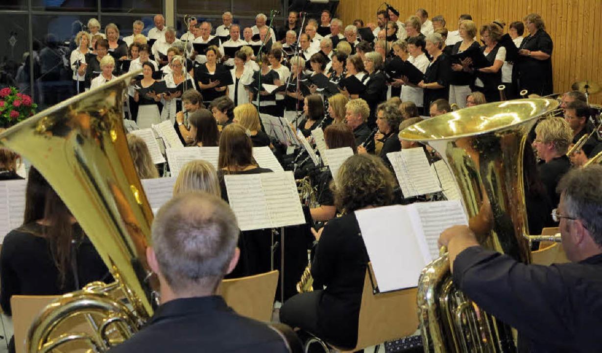 Eindrucksvoller Auftritt von über hund...n und Musikern in der Merowingerhalle.  | Foto: d. Philipp