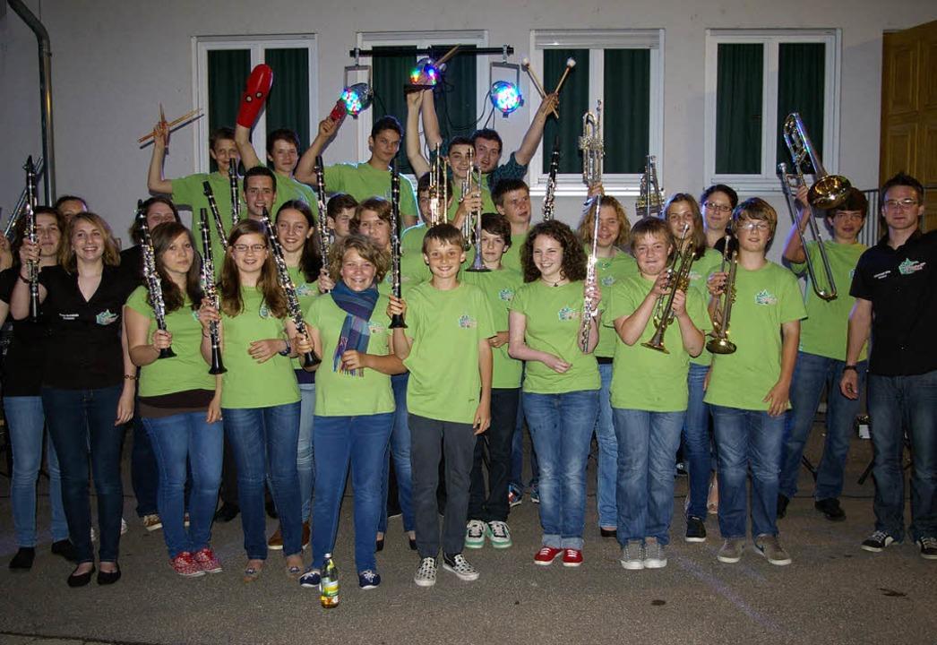 Die Yacher Bläserjugend freut sich über das gelungene Konzert.   | Foto: Verein