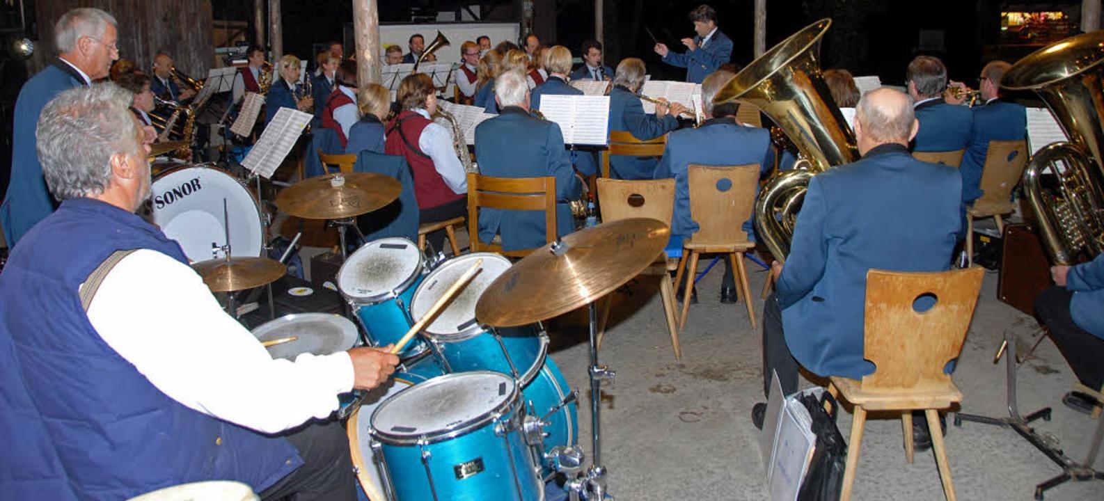 Der Musikverein Bombach fand beim Waldfest des Musikvereins Sasbach Anklang.  | Foto: Roland Vitt