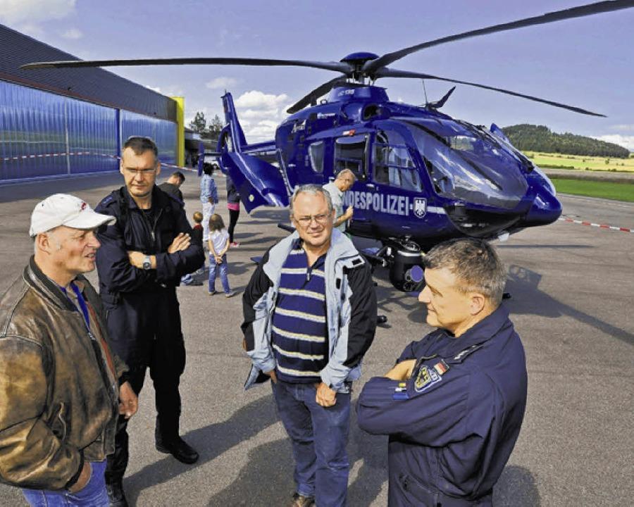 Er faszinierte die Besucher:   der Hub... der Bundespolizei auf dem Flugplatz.   | Foto: SIGWART