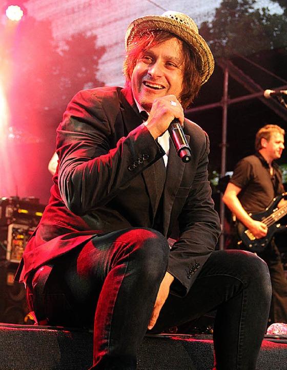 Liebte es publikumsnah: Sänger Tim Howar  | Foto: Monika Weber