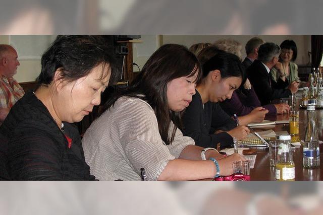 Delegation aus Nagai zu Gast in Bad Säckingen