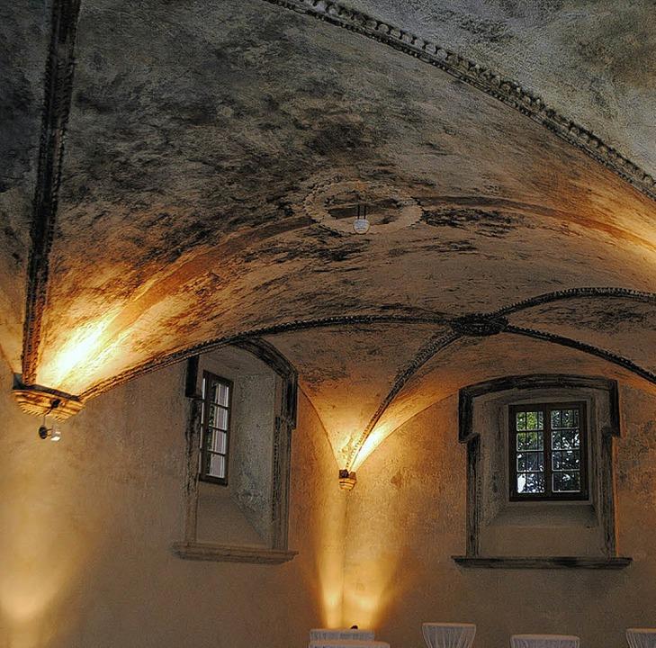 Die Gevölkbedecke im Untergeschoss des Herrenhauses  | Foto: Beatrice Ehrlich