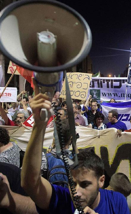 Proteste in Tel Aviv     Foto: afp