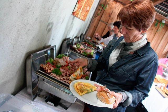 Schmackhaftes Frühstück auf dem Winzerhof