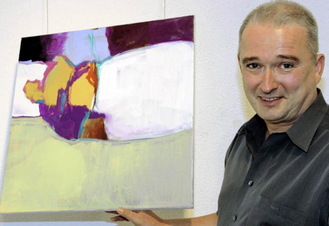 Markus Franke stellt im Kunstforum aus.   | Foto: Eva Korinth