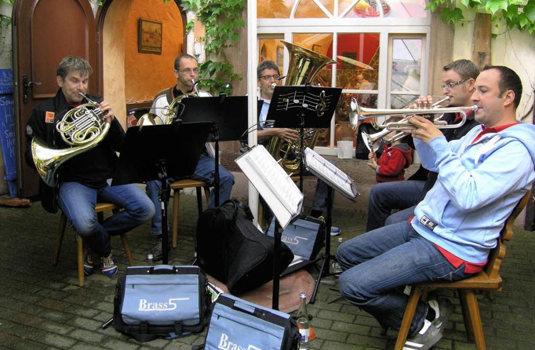 Brass 5 im Gasthaus Krone    Foto: Ute Schöler