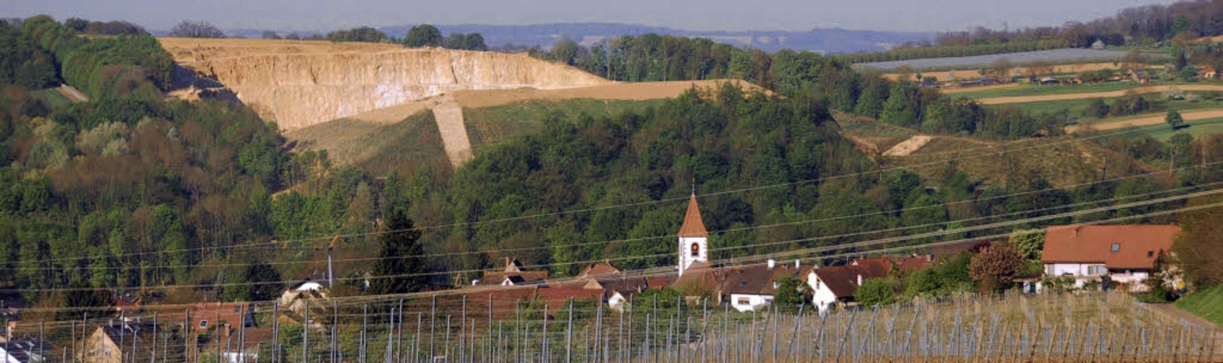 Wo soll weiterer Kalkabbau stattfinden...emeinde Efringen-Kirchen die Geister.     Foto: Victoria Langelott