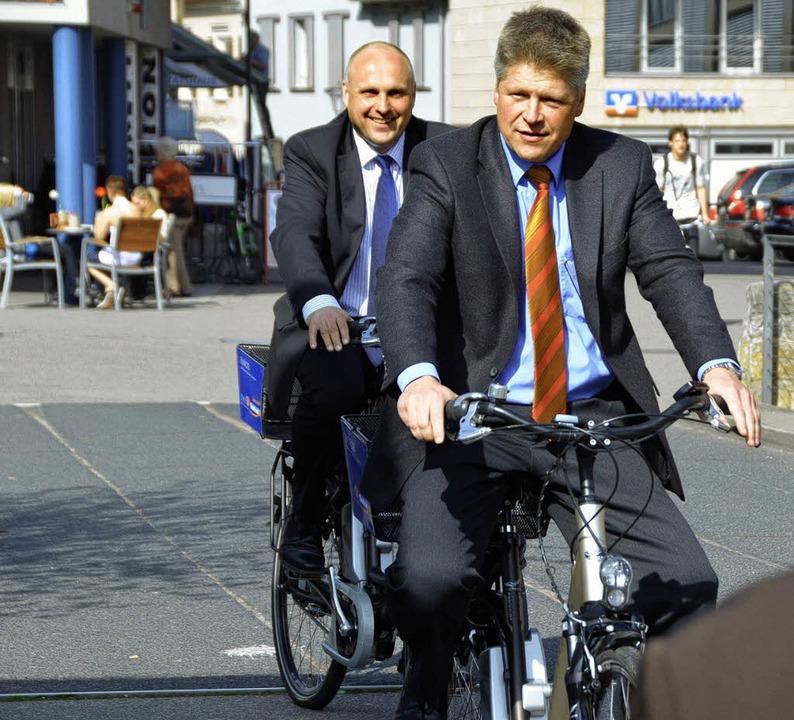 Verlässt die Stadtwerke Emmendingen zu...äsentation der Stadtwerke-  E-Bikes).     Foto: Gerhard Walser
