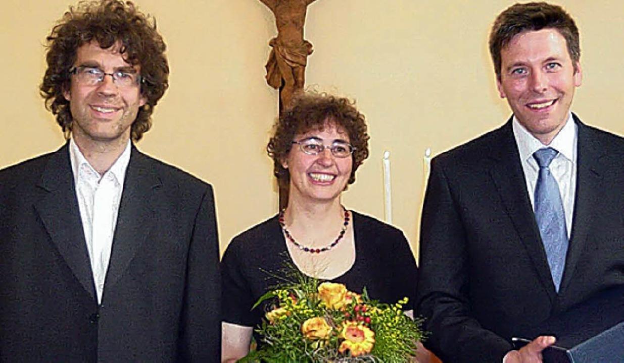 Sorgten für den guten Ton:  Dirigent M...kdirektor Christoph Bogon (von links)   | Foto: Brust