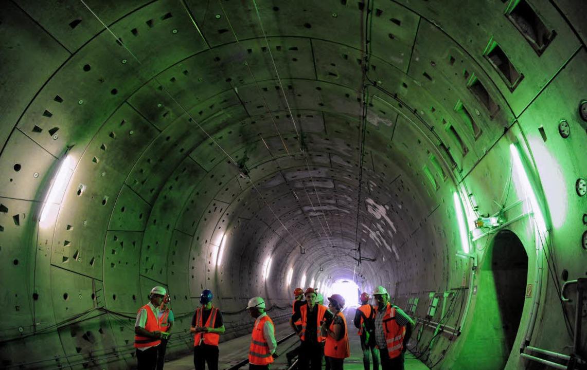 Der Aushub beim Bau des Katzenbergtunn...allberg 2011 deutlich wachsen lassen.   | Foto: dapd