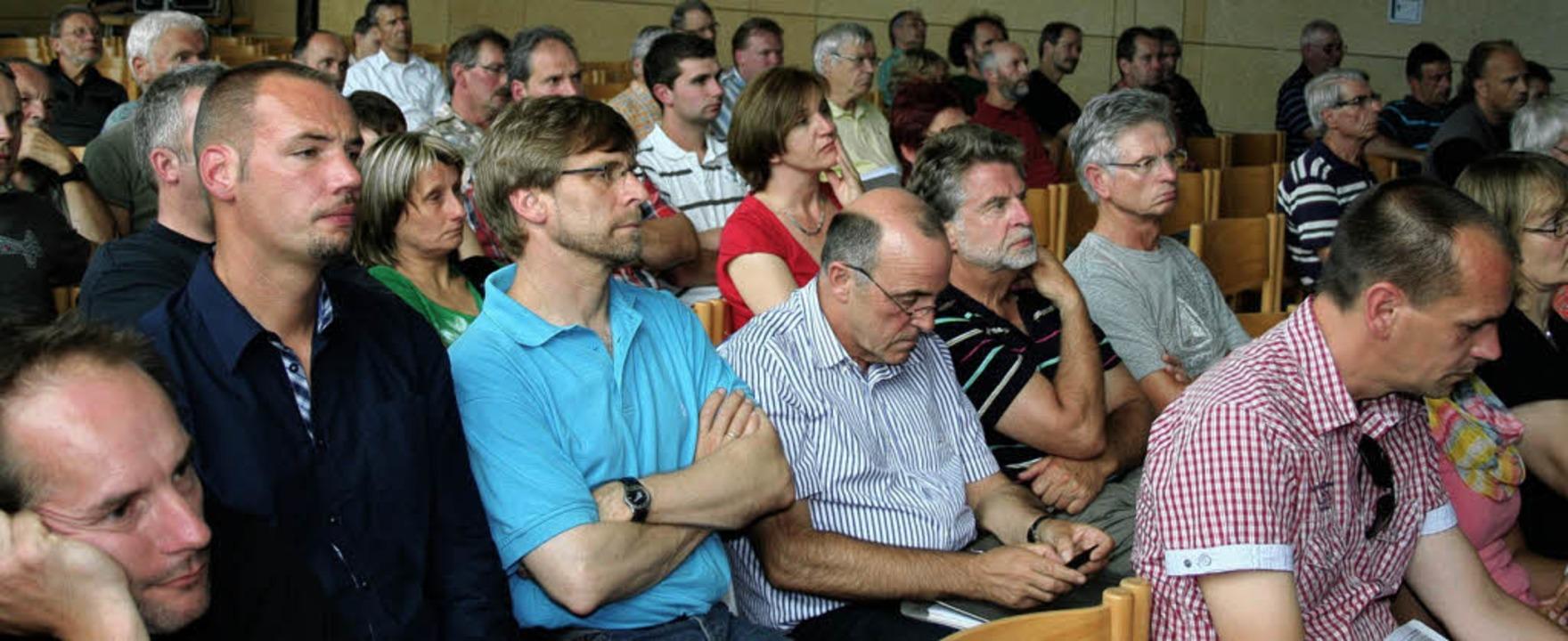 Etliche Bürger und Vertreter von Behör...nzielle Standorte für Windkrafträder.   | Foto: Elfriede Mosmann