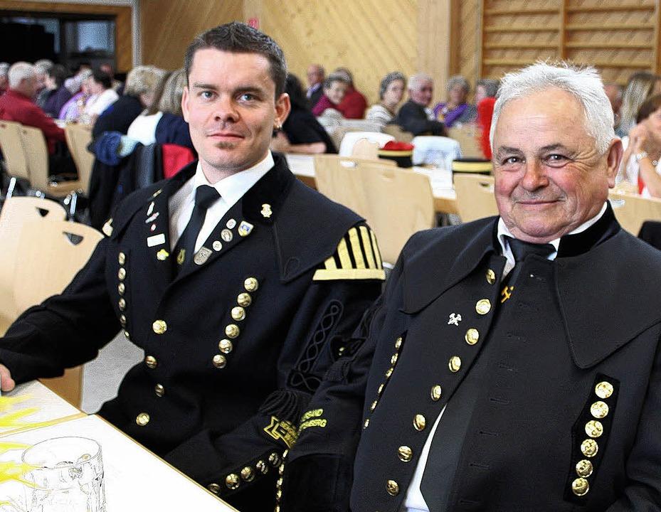 Jakob Behringer, Vorsitzender der Berg...nder des Bergmannsvereins (von links)   | Foto: Anja Bertsch