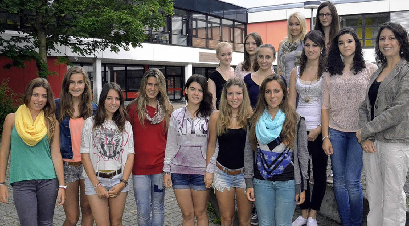 Spanische Austauschschülerinnen waren zu Gast am Lise-Meitner-Gymnasium.     Foto: Martina Weber-Kroker