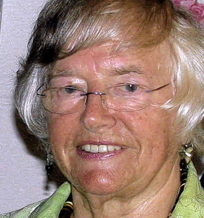 Margot Richter engagiert sich schon lange.   | Foto: Gottstein
