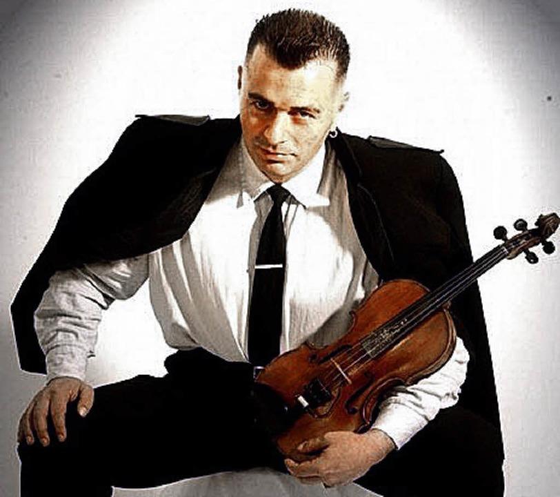 Lando van Herzog mit seiner Violine     Foto: privat