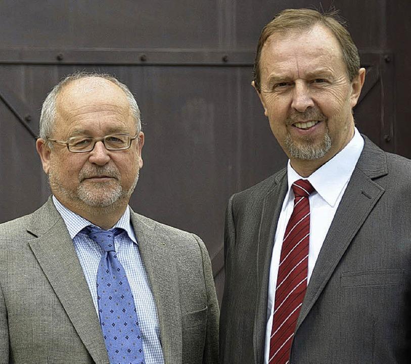 Gerhard Maurer-Hellstern  und Karl Zimmermann sorgen sich um den Justizvollzug.     Foto: janz
