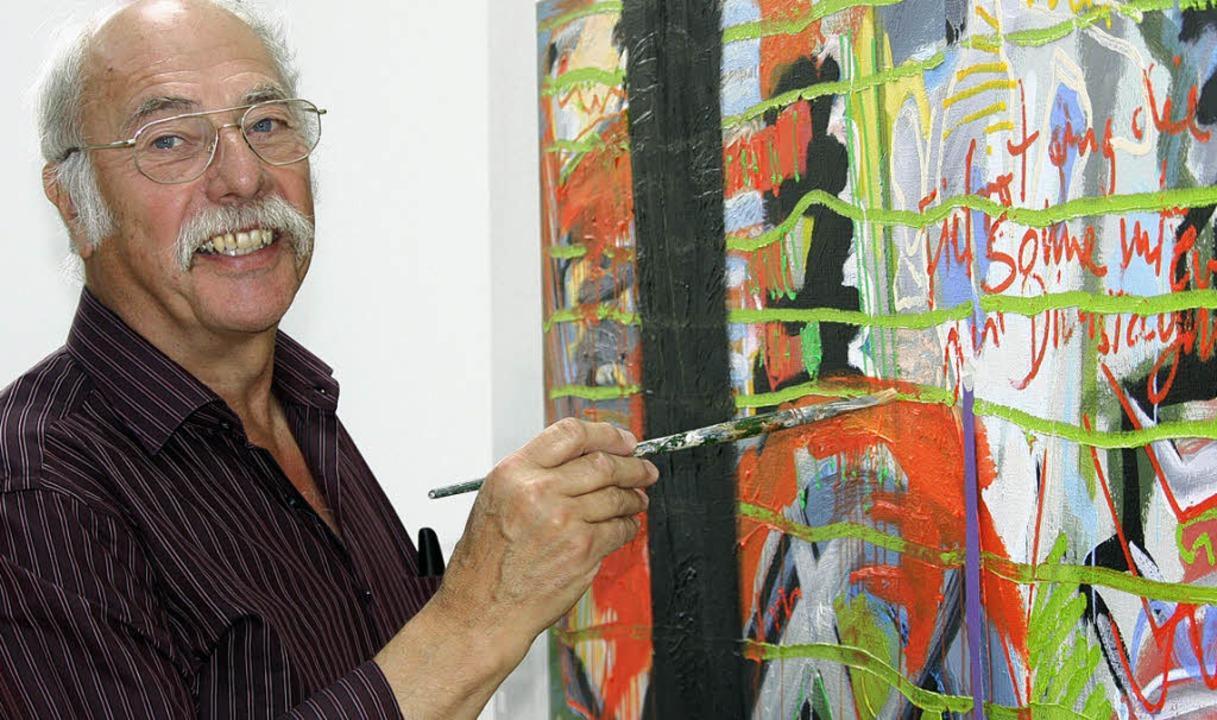 Hans Benesch aus Ebringen engagiert si...mtlich für die Verbreitung von Kunst.   | Foto: Silvia Faller