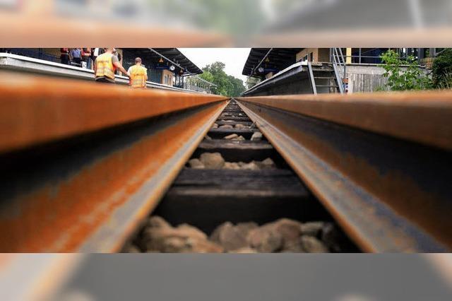 Bauarbeiten verhindern Bahnverkehr