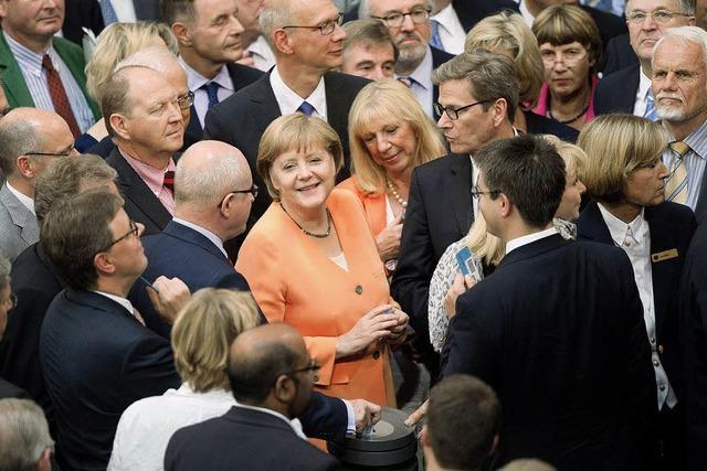 Angela Merkel kann auf die Opposition bauen