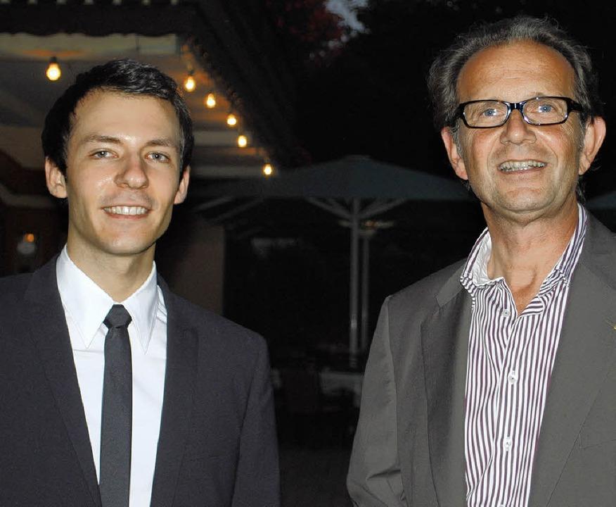 Kreisvorsitzender Johannes Huber aus O...des Wahlkreises Offenburg, Jan Sachs.   | Foto: robert ullmann