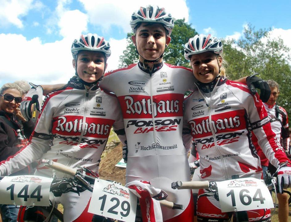 Stolzes Rothaus-Poison-Trio: Kim Riest...n dominierte im Wettkampf der Frauen.   | Foto: junkel