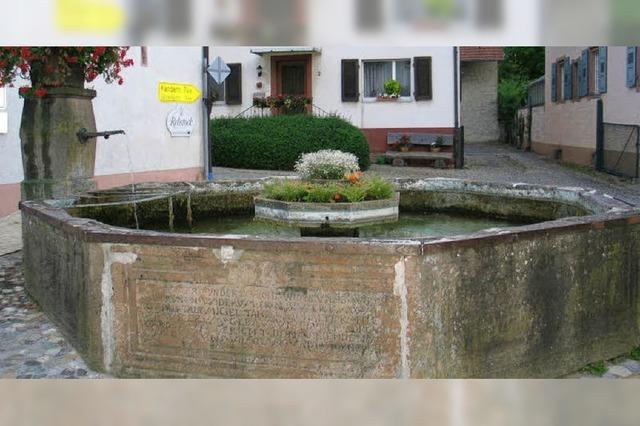 Vier Brunnen werden saniert