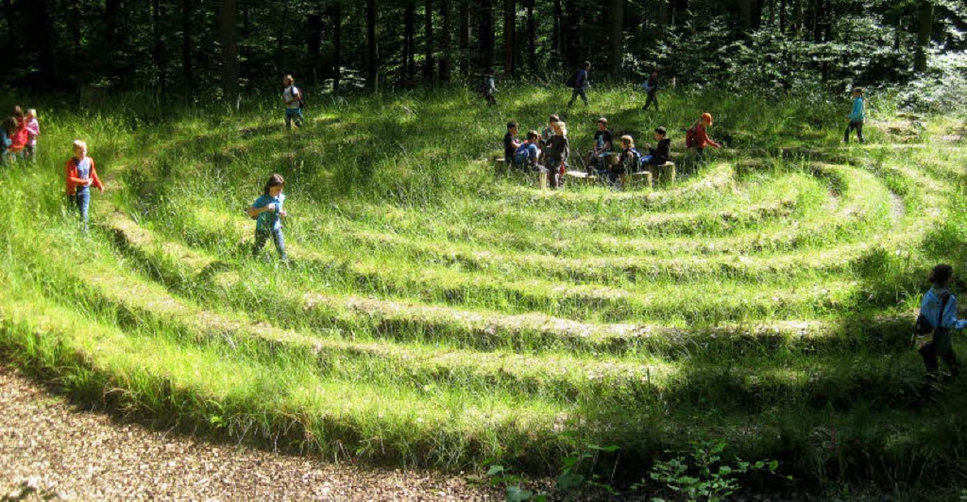 Das Labyrinth - der Irrgarten beim Wal...wieder gerne von Schulklassen besucht.  | Foto: Pia Grättinger