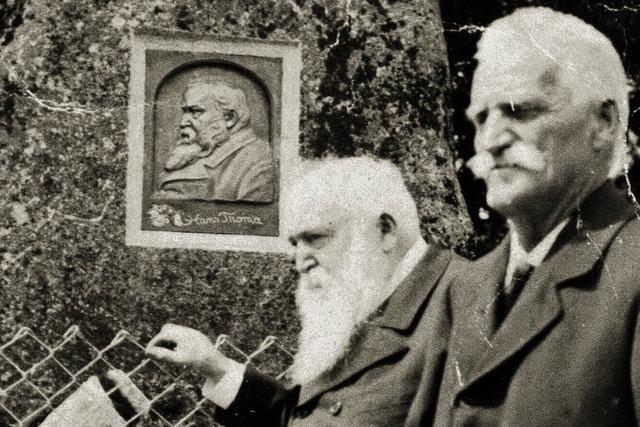 Erinnern an den Tag, als Hans Thoma sein eigenes Denkmal enthüllte